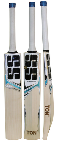SS White Edition Blue Cricket Bat