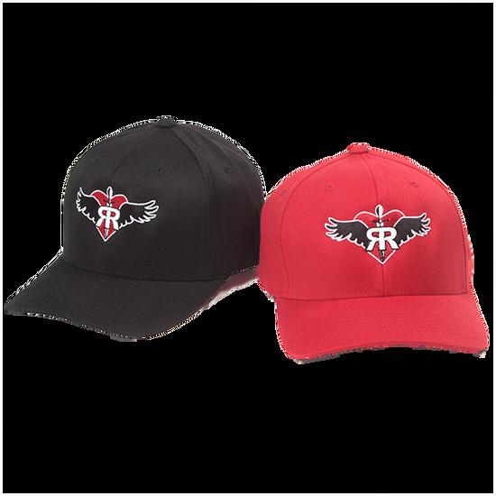 RUFF RIDERS BALLCAPS (RED AND BLACK)