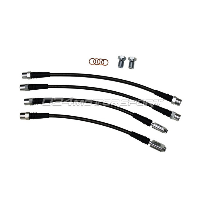 034 Stainless Steel Braided Brake Line Kit, B6/B7 Audi A4/S4 Quattro, DOT Certified