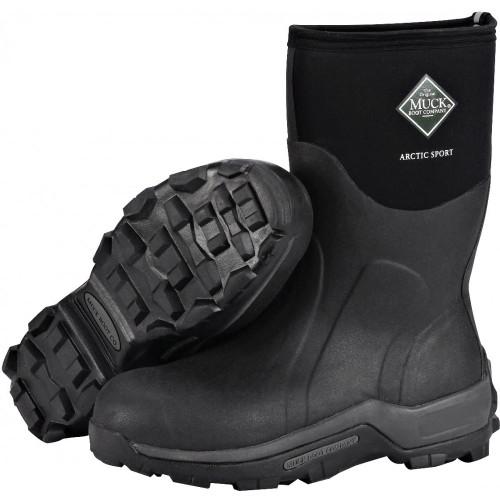 Muck Arctic Sport Mid Boots Black Keddies