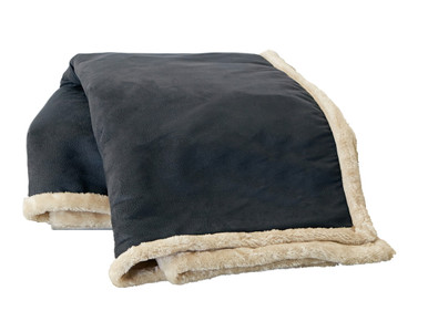 Buy Arctic Faux Leather And Faux Fur Throw Blankets Com
