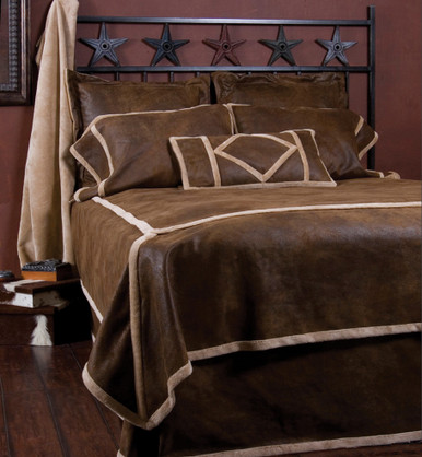 Buy Wyoming Faux Suede And Shearling Twin Bedding Set