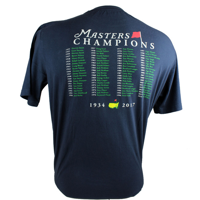 2017 Masters Champions T-Shirt - Navy*Small Only