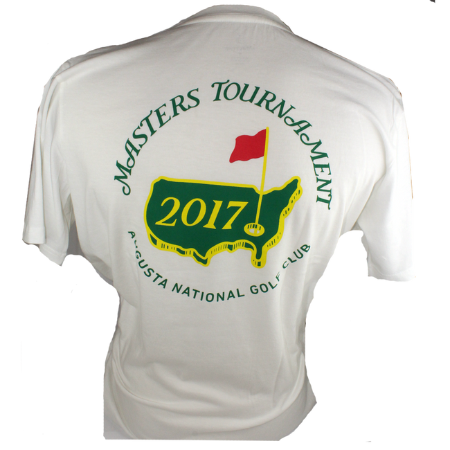 2017 Masters White Small Logo T-Shirt * MED Only