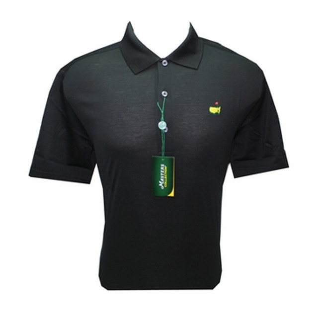 Masters Jersey Black Golf Shirt