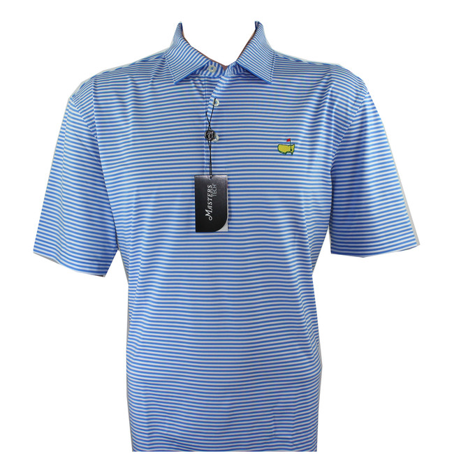 Masters Performance Tech Light Blue & White Golf Shirt