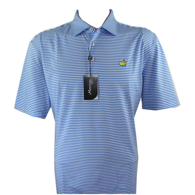 Masters Performance Tech Light Blue & White Golf Shirt