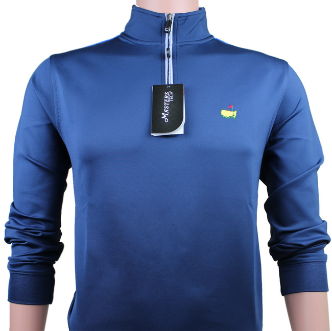 Masters Navy Blue Tech Quarter Zip Pullover