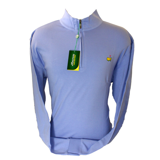 Masters Periwinkle Cotton Quarter Zip Pullover