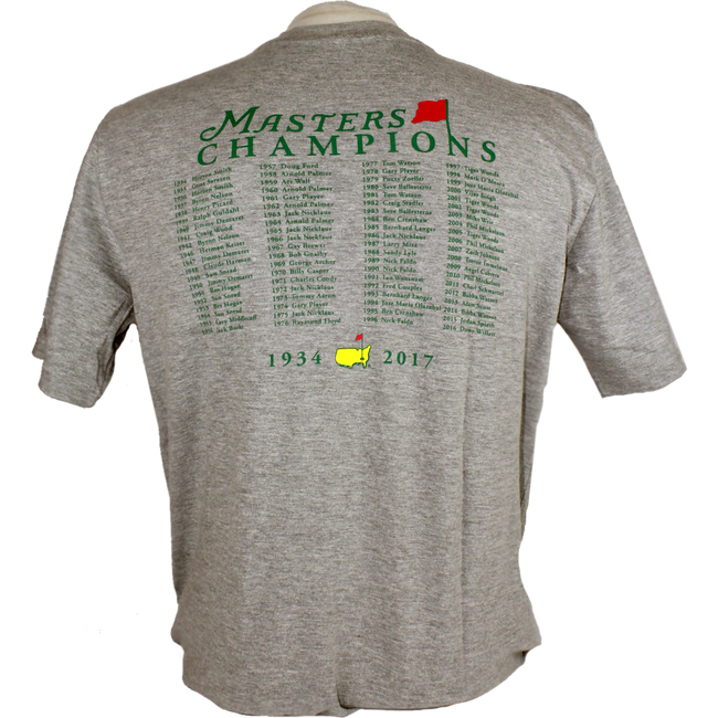 2017 Masters Champions T-Shirt - Grey * Small Only