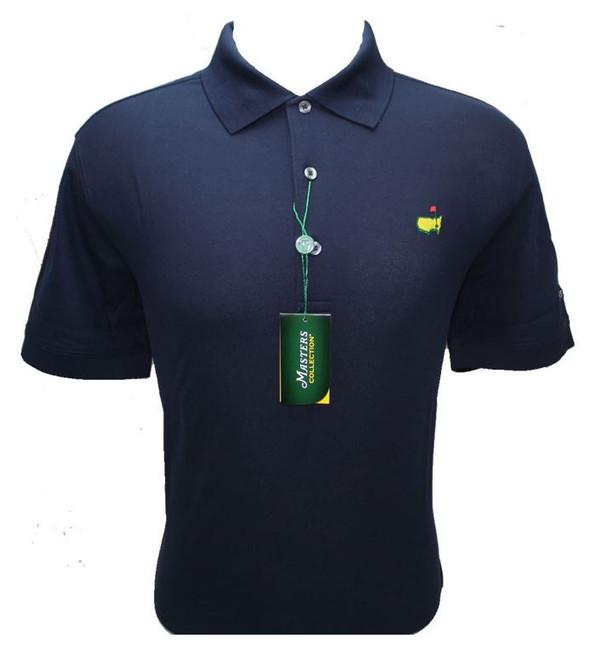 Masters Navy Blue Jersey Golf Shirt