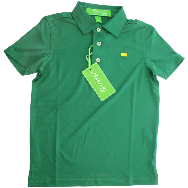Masters Youth Performance Tech Golf Shirt - Green