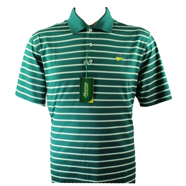 Masters Jersey Evergreen, Lime & White Polo