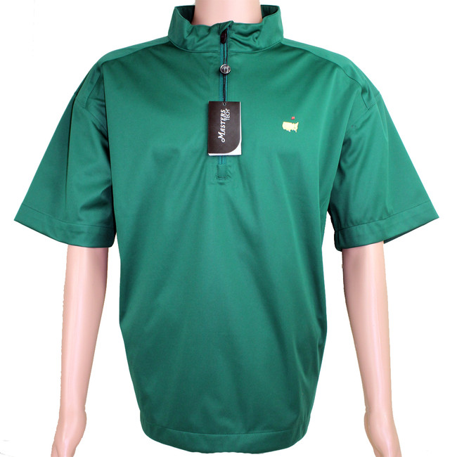 Masters Green Performance Tech Short Sleeve Wind Shirt