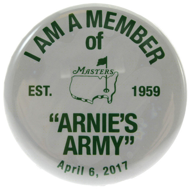 Arnie's Army Collectible Member Pin - 4/6/17 - Commemorating Arnold Palmer