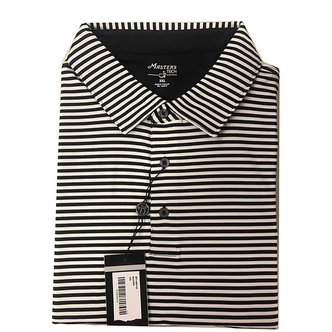 Masters Tech Golf Shirt- Black and White -3XL Only