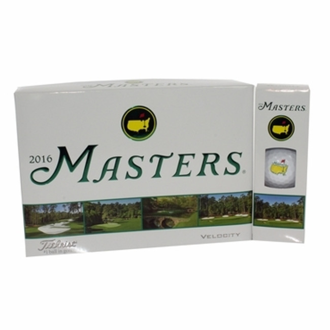 Dozen Masters Golf Balls - Velocity - 2016 Version