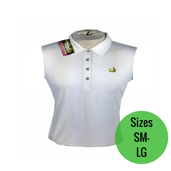 Masters Ladies TECH Sleeveless Polo - White