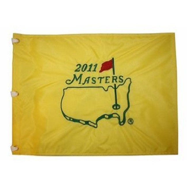 2011 Masters Pin Flag - Framed