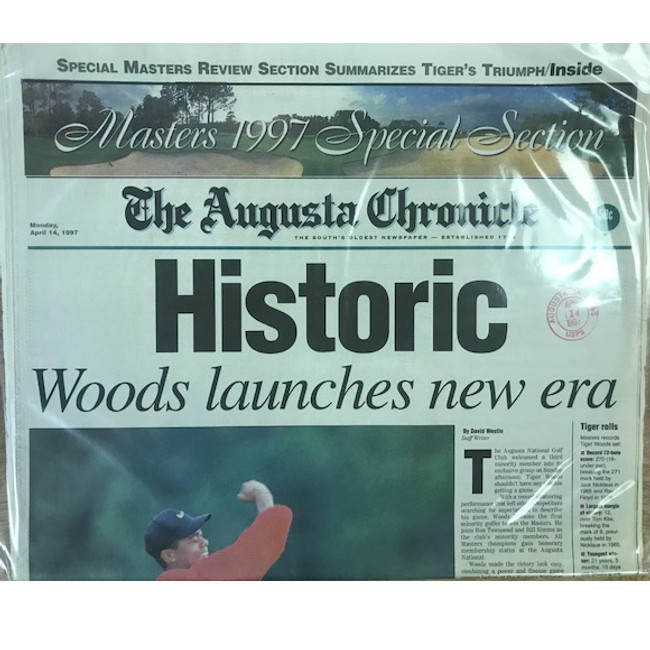 1997 Augusta Chronicle- Tiger Woods * Rare Find