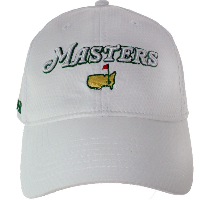2018 Masters White Performance Tech Side Dated Hat