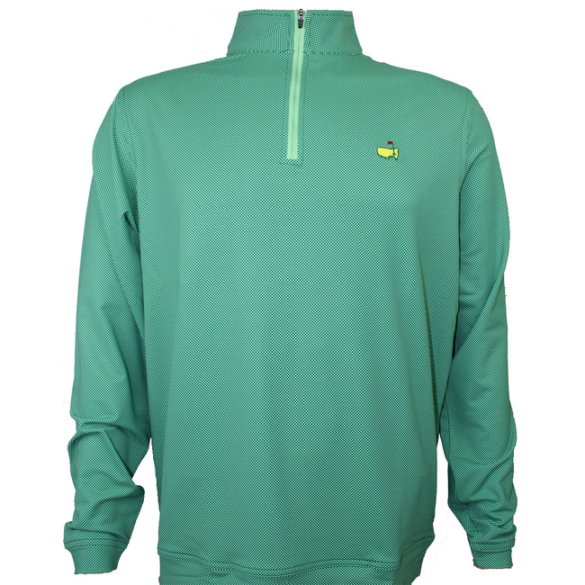Masters Peter Millar Augusta Pines Checkered Performance Quarter Zip Pullover