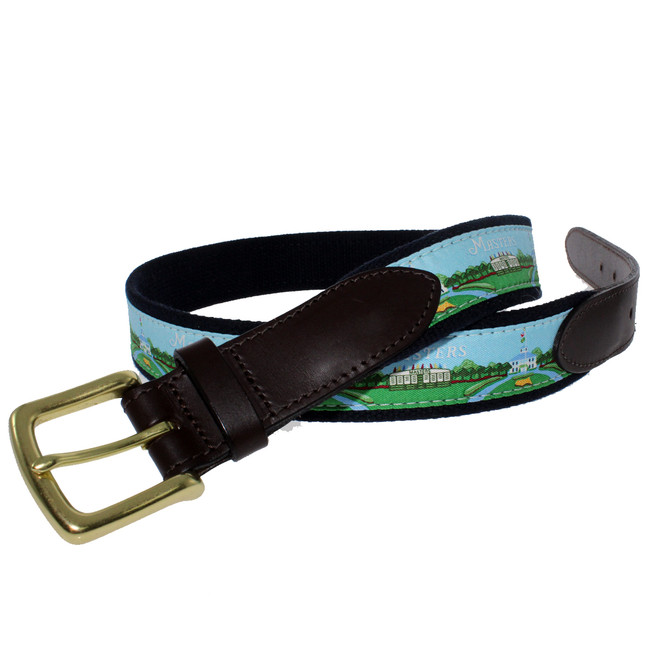 Masters Vineyard Vines Belt - Light Blue Scoreboard/Clubhouse