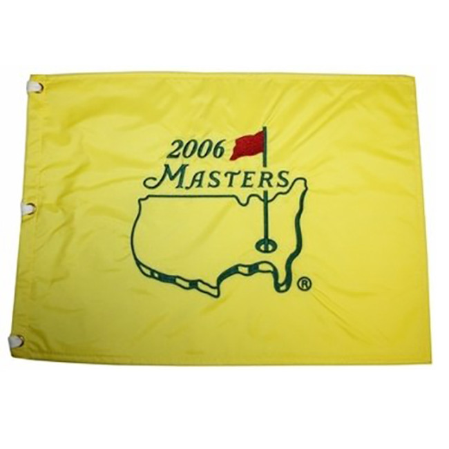 2006 Masters Embroidered Golf Pin Flag- Phil Mickelson Champion