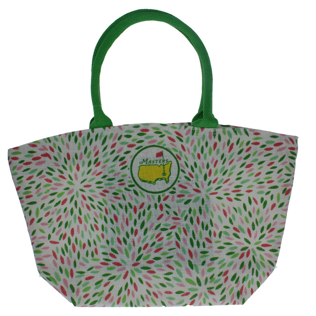 Masters Green & Pink Small Jute Bag
