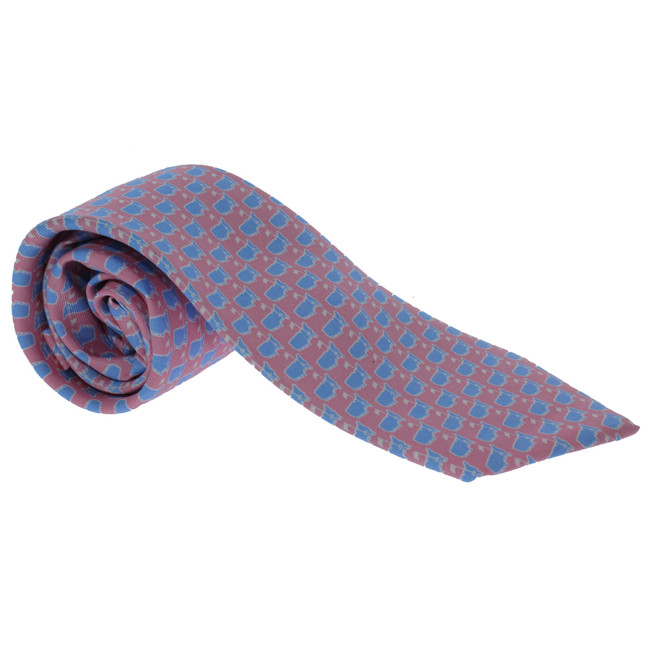 Masters Youth Boys Tie - Pink & Light Blue