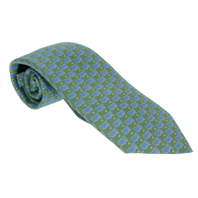Masters Youth Boys Tie - Lime & Light Blue