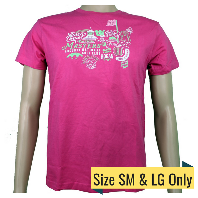 Masters Youth Pink Iconic Logo T-Shirt
