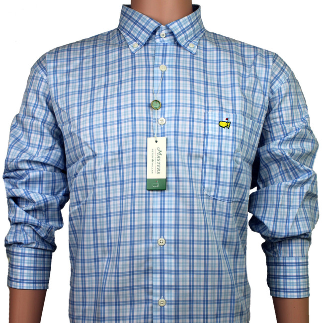 Masters Peter Millar Dress Shirt - Light Blue