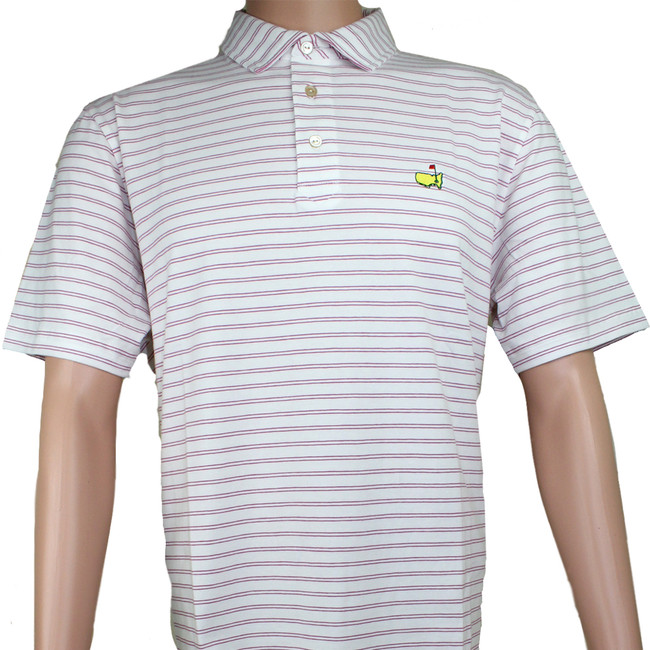 Masters Peter Millar White & Rosebud Jersey Golf Shirt
