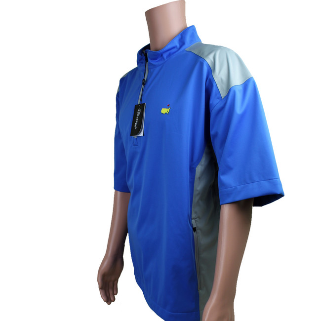 Masters Blue with Grey Short Sleeve Performance Tech Wind Shirt