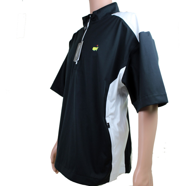 Masters Black & White Short Sleeve Performance Tech Wind Shirt
