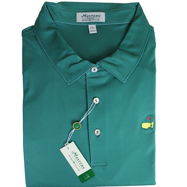 Masters Peter Millar Pine Dotted Performance Tech Golf Shirt