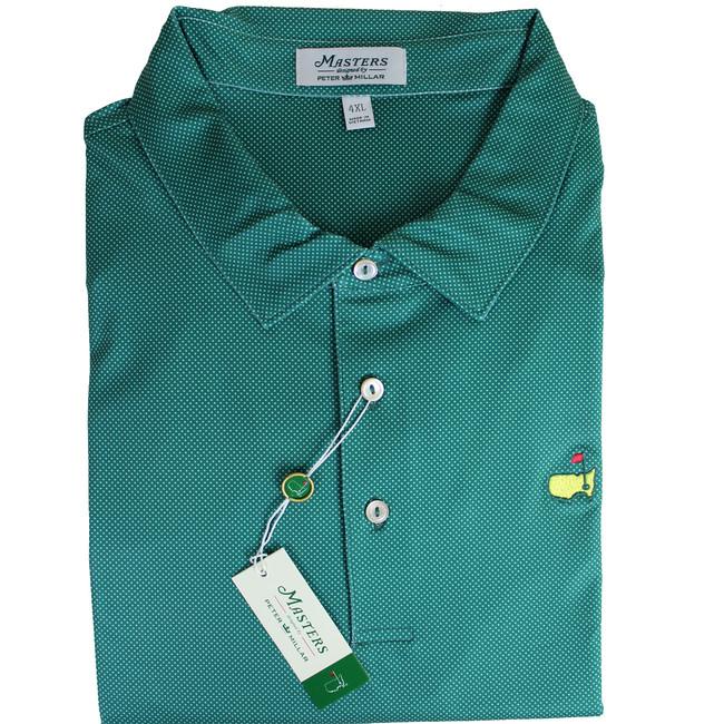 Masters Peter Millar Pine Dotted Performance Tech Golf Shirt
