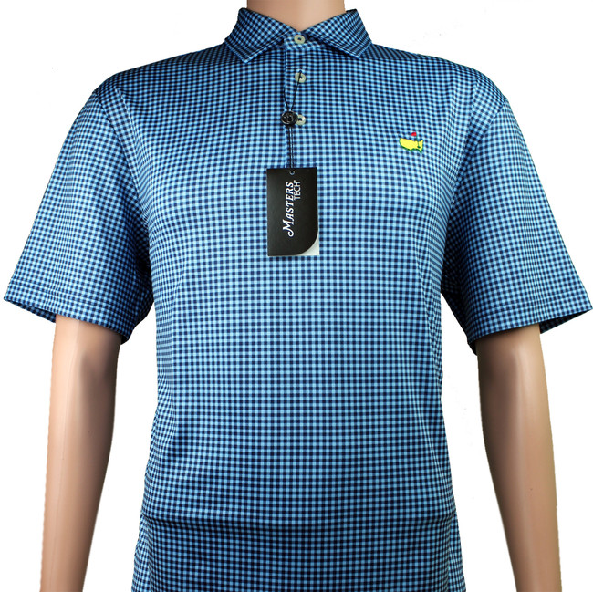 Masters Performance Tech Insignia Blue & Navy Golf Shirt