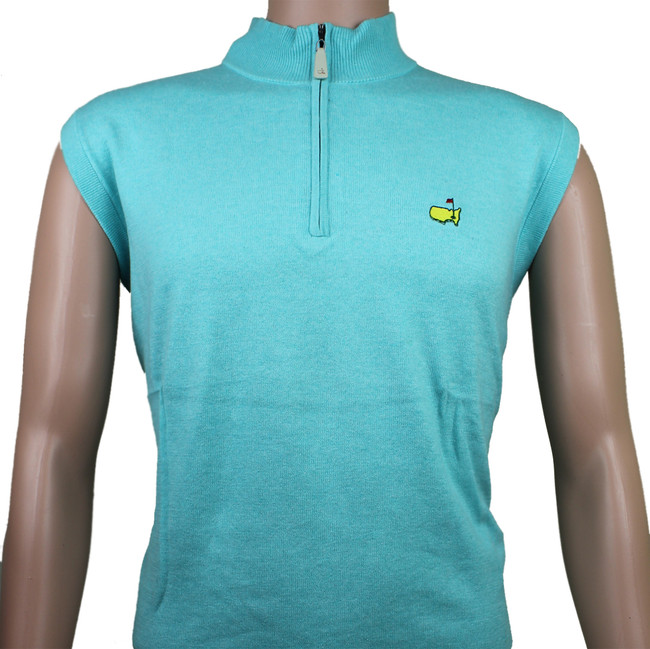 Masters Peter Millar Teal 1/4 Zip Sweater Vest - XXL ONLY