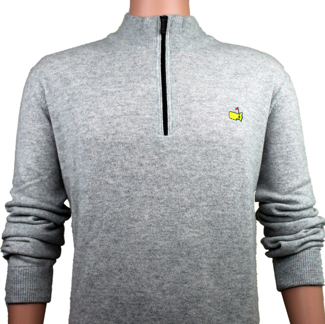 Masters Grey Clubhouse Collection Premium 1/4 Zip Sweater