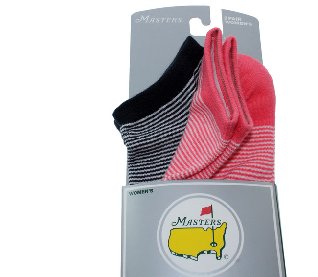 Masters Ladies Pink & Navy Performance Socks - 2 Pair