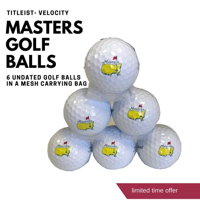 Bag of 6 Masters Titleist Golf Balls- Velocity