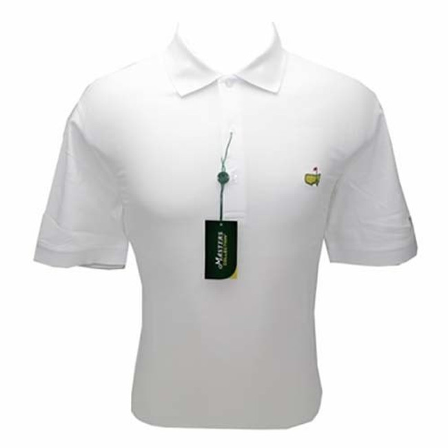 Masters Polo Shirt - White- 100% Pima Cotton