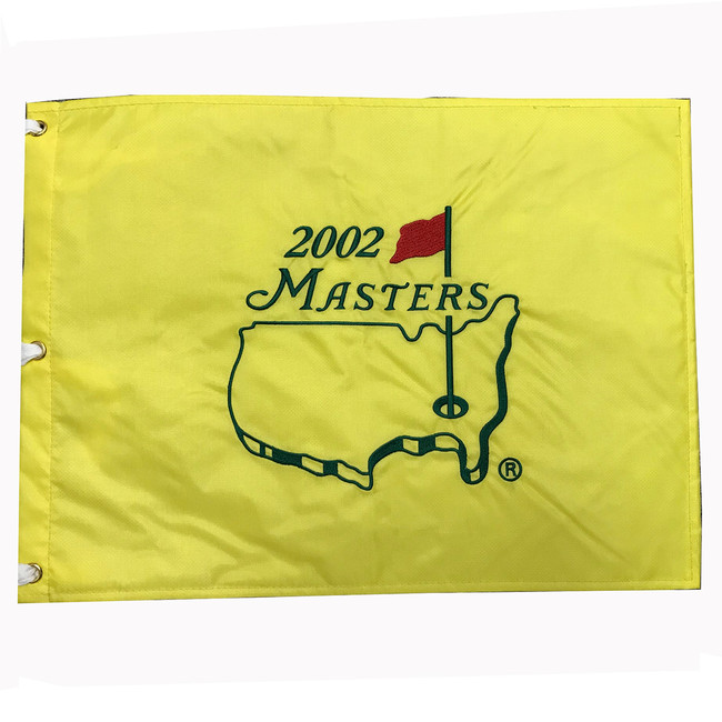 2002 Masters Embroidered Golf Pin Flag- Tiger Woods Champion
