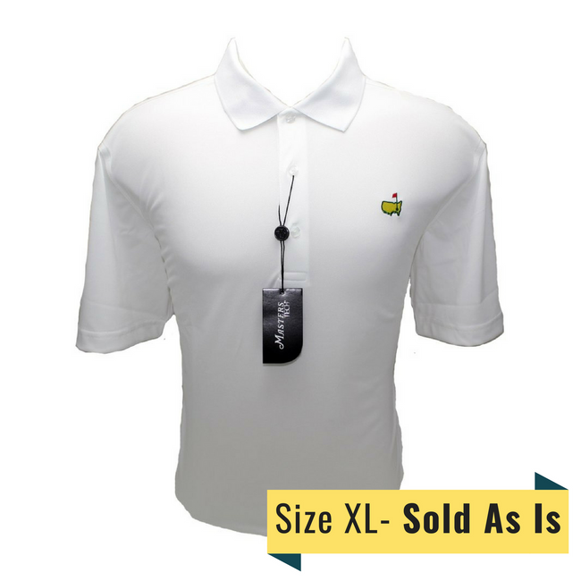 Masters White Tech Golf Shirt *Sold As Is