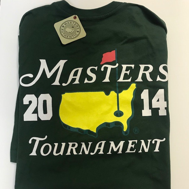 2014 Masters Green Small Logo T-Shirt *Medium Only