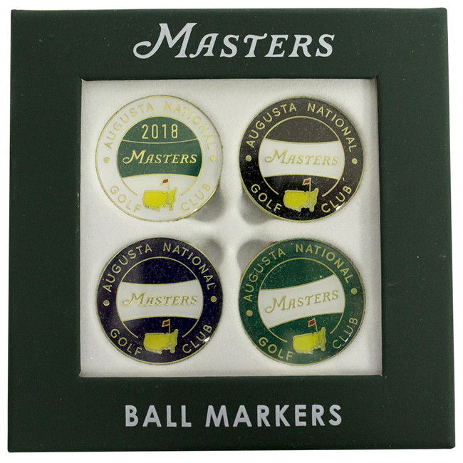 Dated Masters 4 Pack 2018 Ball Markers