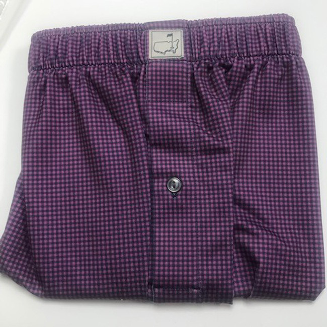 Masters Peter Millar Navy/Pink Checkered Performance Boxers