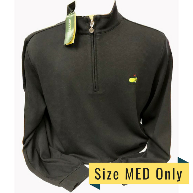 Masters  Black Cotton 1/4 Zip Pullover